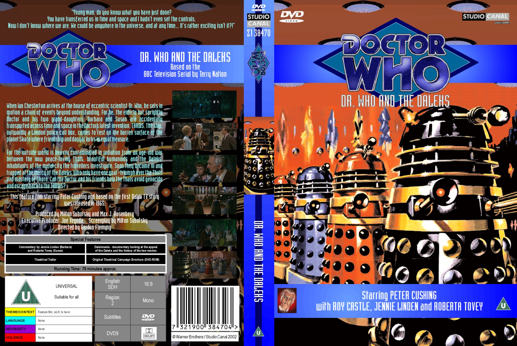 My standard DVD template for Dr. Who and the Daleks