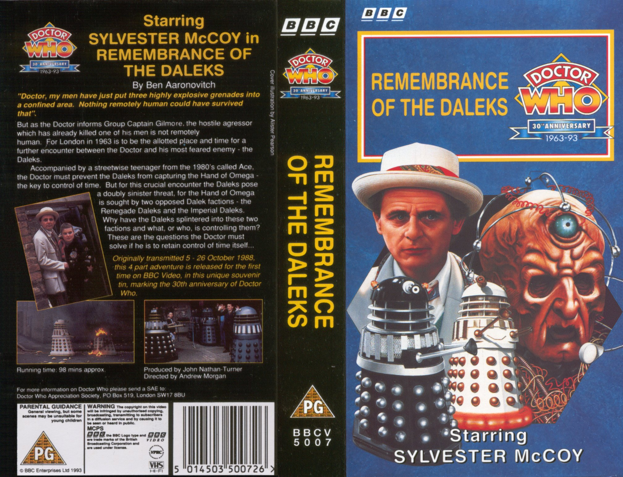 Remembrance of the Daleks covers