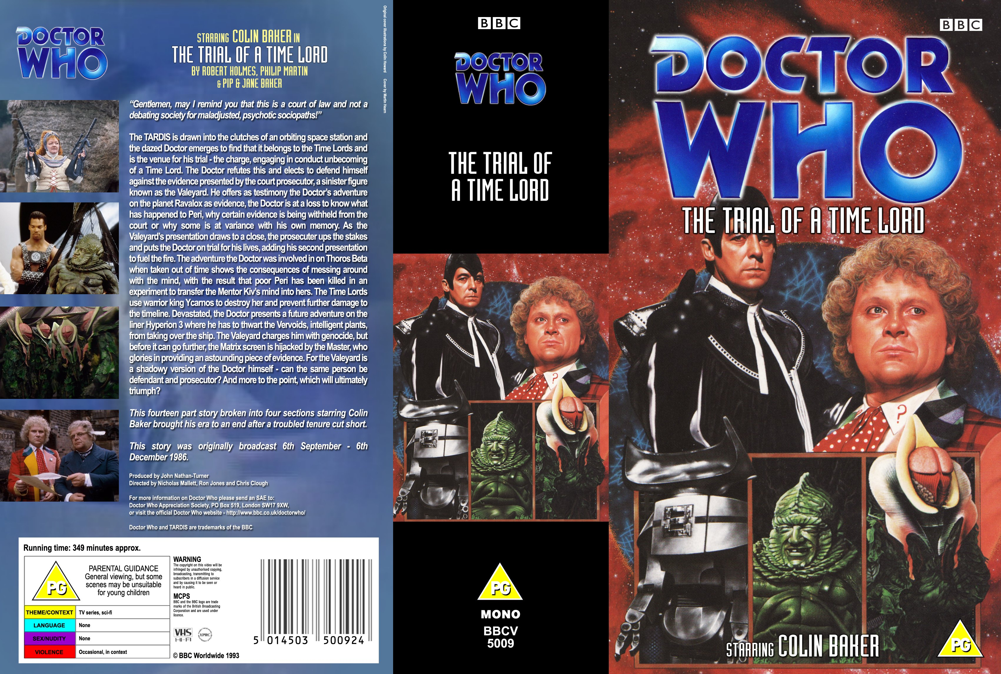 My Double Pack Cover With Black Sheep Spine For The Trial Of A Time Lord