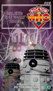 My cover for Daleks: The Early Years, photo-montage and graphic spine
