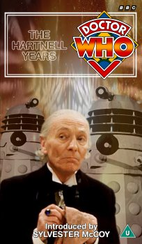 My cover for The Hartnell Years, photo-montage with graphic spine