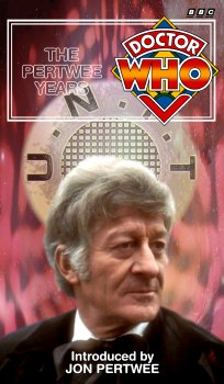 My cover for The Pertwee Years, photo-montage with graphic spine