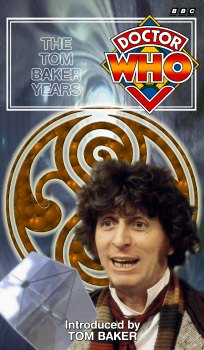 My single pack cover for The Tom Baker Years, photo-montage with graphic spine