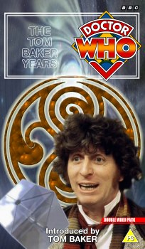 My double pack cover for The Tom Baker Years, photo-montage with graphic spine