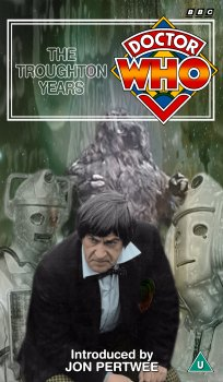 My cover for The Troughton Years, photo-montage with graphic spine