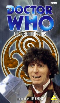 My double pack cover for The Tom Baker Years, photo montage with graphic spine