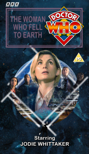 Benjamin's retro VHS cover for The Woman Who Fell to Earth